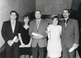 Ignacio Molina, Beatriz Acha, César Colino, Rosalía Mota y Manuel Jiménez. Maestros en Ciencias Sociales, 1996