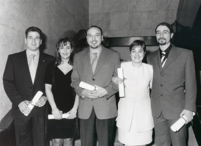 Ignacio Molina, Beatriz Acha, César Colino, Rosalía Mota y Manuel Jiménez. Maestros en Ciencias Sociales
