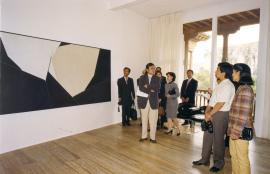 Visita al Museo de Arte Abstracto Español de los Príncipes de Japón, 1997