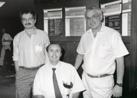 Luis Rivas, Manuel Fresno y Alan Sher. Workshop Cytokines in infections disease, 1996