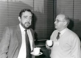 José Antonio Melero y Francisco Sánchez Madrid. Seminario Vacuna contra el SIDA, 1997