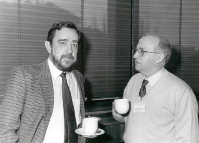José Antonio Melero y Francisco Sánchez Madrid. Seminario Vacuna contra el SIDA