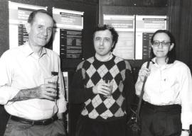 Joan Modolell, Alfonso Martínez-Arias y Sonsoles Campuzano. Workshop Notch/Lin-12 Signalling, 1998