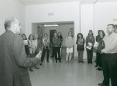 Javier Maderuelo en el curso sobre Conocimiednto del Arte Contemporáneo, 1997