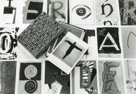 Vista parcial de la exposición El objeto del arte, 1997