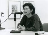 Catalina Cantarellas en el curso sobre Conocimiento del Arte Contemporáneo, 1997
