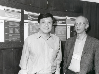 Nan-Hai Chua y Crisanto Gutiérrez. Workshop Cell cycle regulation and cytoskeleton in plants