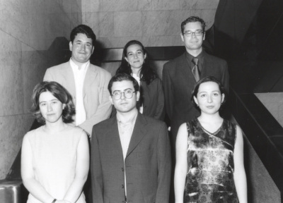 Pablo González Álvarez, Irene Martín Cortés, Kerman Calvo Borobia, Laura Morales Díez, Francisco Herreros Vázquez y María Jiménez Buedo. Maestros en Ciencias Sociales