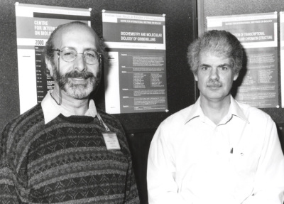 José Luis García-Martínez y Peter Hedden. Workshop Biochemistry and Transcriptional Regulation and Chromatin Structure