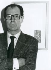 Rafael Canogar. Exposición El objeto del arte, 1998