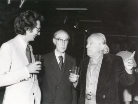 Andrés Amorós Guardiola, Gerardo Diego y Rafael Alberti. Exposición Picasso, 1977