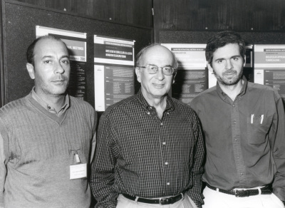 Eduardo Soriano, Pasko Rakic y Arturo Álvarez-Buylla. Workshop Genetic factors that control cell birth, cell allocation and migration in the developing forebrain