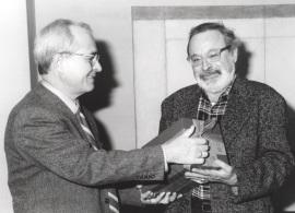 José María Maravall y Fernando Savater en el almuerzo coloquio celebrado en CEACS, 2000