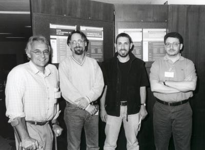 Víctor G. Corces, Graig L. Peterson, Tony Kouzarides y Fernando Azorín. Workshop The Regulation of Chromatin Functions