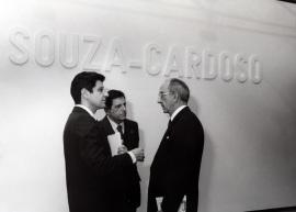 Manuel María Carrilho, Mario Quartin y José Luis Yuste Grijalba. Exposición Amadeo de Souza-Cardoso, 1998