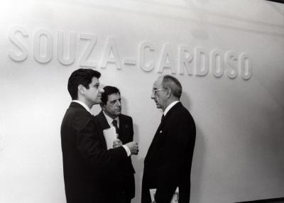 Manuel María Carrilho, Mario Quartin y José Luis Yuste Grijalba. Exposición Amadeo de Souza-Cardoso