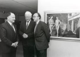 Willian Anción, Henning Wegener y Miguel Ángel Cortés. Exposición Paul Delvaux, 1998