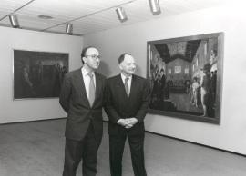 Miguel Ángel Cortés y Willian Anción. Exposición Paul Delvaux, 1998