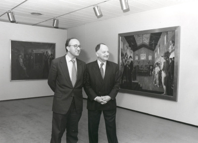Miguel Ángel Cortés y Willian Anción. Exposición Paul Delvaux