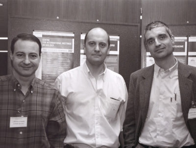 Silvio Gutkind, Piero Crespo y Xosé R. Bustezo. Workshop Exchange Factors