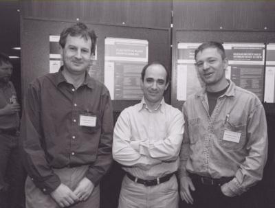 Christian Fankhauser, Miguel Ángel Blázquez y George Coupland. Workshop Plasticity in Plant Morfogenesis