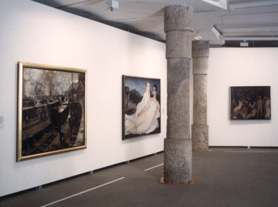 Vista parcial de la exposición Paul Delvaux