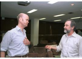 Andrew Tutt y Hans Joenge. Workshop Molecular Cross Talk Among Chromosome Fragility Syndromes, 2004