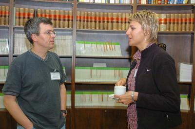 Zbynek Kozmik y Jana Kreslova. Workshop The Genetic Control of Eye Development and its Evolutionary Implications