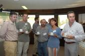 Roberto Solano, Carmen Castresana, Antonio Molina, Pablo Rodríguez Palenzuela y Pablo Ugra. Workshop Disease Resistance and Related Signalling Mechanisms in Plants.