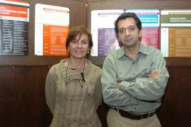 Isabel Guerrero y Ariel Ruiz i Altaba. Workshop Interpreting Hedgehog-Gli Signalling, 2004