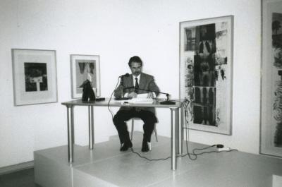 Daniel Giralt-Miracle en el curso sobre Expresionismo Abstracto Americano