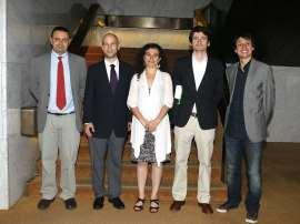 Ignacio Sánchez-Cuenca, Javier Alcalde Villacampa, Luis de la Calle, Laia Balcells y Lluis Orriols. Entrega diplomas de Maestros y Doctores del CEACS, 2010
