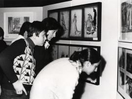 Vista parcial de la exposición Teatro Español del siglo XX, 1977