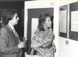 Román Alís y Mª Cruz Galatas. Exposición del Centro de Documentación de la Música Española Contemporánea, 1983