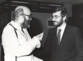 Luis de Pablo y José Manuel Garrido. Exposición del Centro de Documentación de la Música Española Contemporánea, 1983