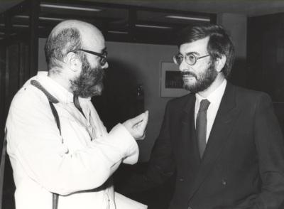 Luis de Pablo y José Manuel Garrido. Exposición del Centro de Documentación de la Música Española Contemporánea