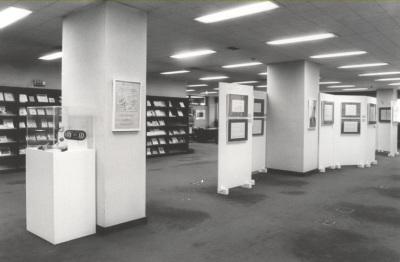 Vista parcial de la Exposición del Centro de Documentación de la Música Española Contemporánea