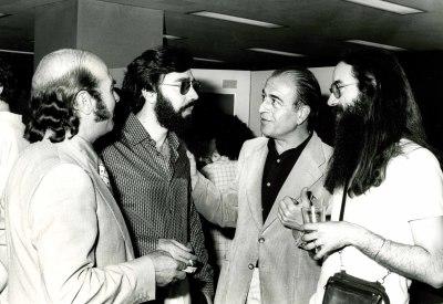 Claudio Prieto, Carlos Cruz de Castro, Ramón Barce y Pedro Estevan. Exposición del Centro de Documentación de la Música Española Contemporánea