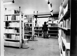 Vista parcial de la Biblioteca CEACS, 1987