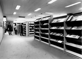 Vista parcial de la Biblioteca CEACS, 1992