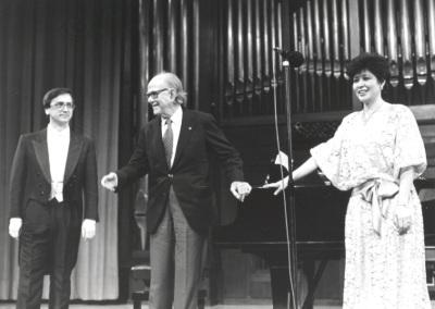 Alejandro Zabala, Xavier Montsalvatge y Atsuko Kudo. Homenaje a Xavier Montsalvatge en su 80 Aniversario