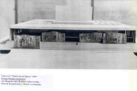 Maqueta para el Concurso Internacional de Anteproyectos para el Teatro Nacional de la Ópera de Jan Boguslawski. Primer premio, 1962