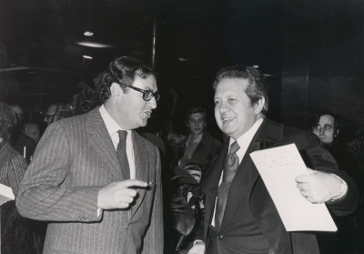 Juan March Delgado y Mario Soares durante la presentación de la Revista PRESENÇA