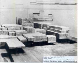 Maqueta para el Concurso Internacional de Anteproyectos para el Teatro Nacional de la Ópera de José Luis Aaranguren. Tercer premio, 1962