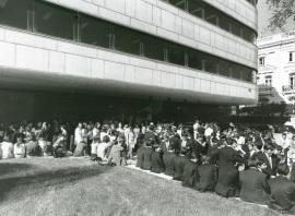 Vistas exteriores de la Fundación Juan March, 1975