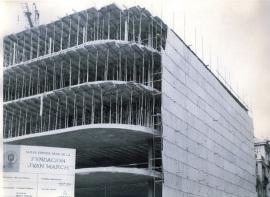 Edificio en construcción de la sede de la Fundación Juan March, 1974