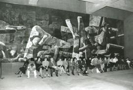 Mural de Vaquero Turcios. Edificio sede de la Fundación Juan March, 1975