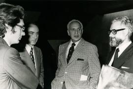 Andrés Amorós Guardiola, José Luis Yuste Grijalba, Severo Ochoa y Julio Rodríguez Villanueva. Homenaje al Profesor Severo Ochoa, 1976