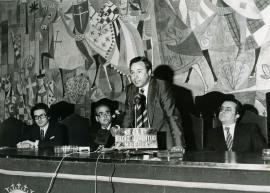 Andrés Amorós Guardiola y Alfonso Emilio Pérez Sánchez. Presentación del volumen Murcia, de la colección Tierras de España, 1976