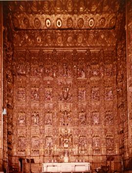 Restauración del Retablo del Altar Mayor de la Catedral de Sevilla. Ayudas a la restauración, 1977